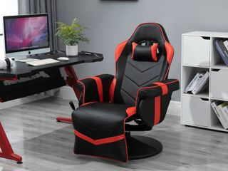 Vinsetto Home Comfortable Office Video Game Sofa Swivel Chair with a Strong Ergonomic Design   Quality Material
