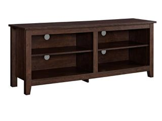 Walker Edison Furniture Company 58 in  Traditional Brown Composite TV Stand 60 in  with Adjustable Shelves