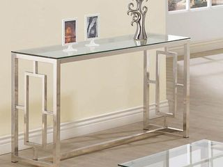 Occasional Contemporary Nickel Sofa Couch Table