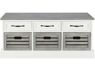 Traditional White and Grey Cabinet   39 25  x 13 75  x 17 75  1 Only