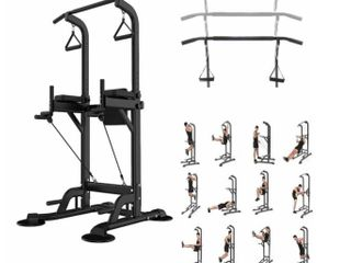 Multi Function Power Tower Pull Up Dip Station Home Gym Equitment Stable Exercise Fitness