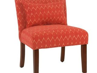 Porch  amp  Den Valderrama Accent Chair with Pillow   Orange