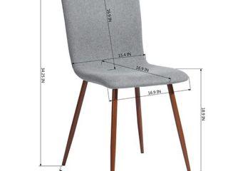 Carson Carrington Viken Fabric Dining Chair  Set of 4  Grey