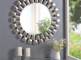 Hera 36 inch Silver Sunburst Wall Mirror   36