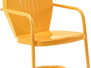 Crosley Furniture   Tangerine Griffith Outdoor Chair   Retro