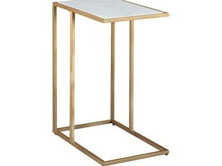 Signature Design by Ashley lanport Champagne White Accent Table