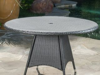 Grey Corsica Outdoor Wicker Round Dining Table  ONlY  by Christopher Knight Home Retail 289 99