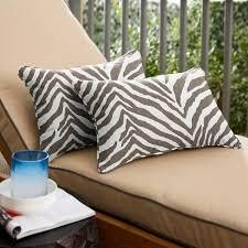 PAIF OF G I l I  by Jill Martin Indoor Outdoor Printed Grey Zebra Pillows