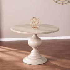 The Gray Barn Brandison Traditional Round Wood DINING TABlE BASE ONlY