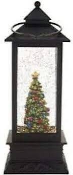 Illuminated Holiday lantern with Timer by lori Greiner Tree
