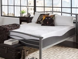 KING SIZE PlUSH ComforPedic from Beautyrest Choose Your Comfort 14 inch NRGel Memory Foam Mattress   White Retail 1048 49