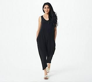 Attitudes by Renee Petite Weekend Chic Jersey Jumps Black Petite large