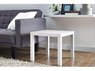 Mainstays Parsons Square End Table  White