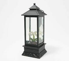 Illuminated Water lantern by lori Greiner White Orchid