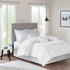 8 10 Piece White Plaid Comforter Set  Retail 82 49