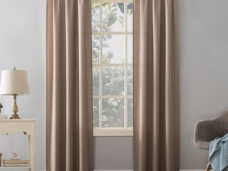 PAIR OF Mainstays Textured Solid Curtain Panels