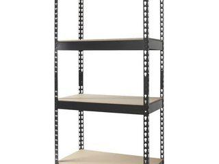 Iron Horse 3800 lb Riveted Shelving  4 Shelf  60 Hx30 Wx16 D  Black  Retail 103 99