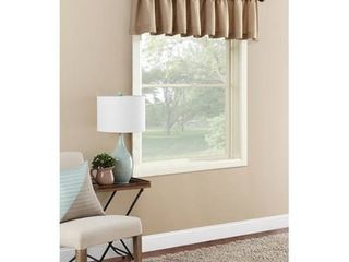 PAIR OF Mainstays Textured Solid Curtain Valances