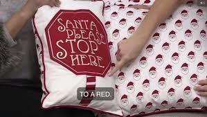 Home Reflections Set of 2 Affirmation Holiday Pillows  Santa Stopsign