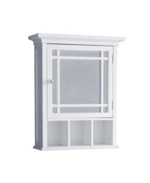 Elegant Home Fashions Neal 1 Door Medicine Cabinet in White