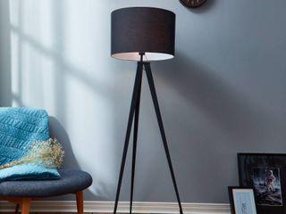 Versanora 60 23  Romanza Tripod Floor lamp with Black Shade
