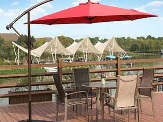 Bally 10 ft  Cantilever Hanging Patio Umbrella  Red