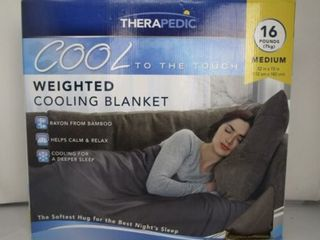 Therapedic 16 lbs medium weighted cooling blanket