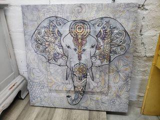 Elephant Head Canvas Art