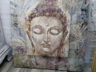 Buddha Head Canvas Art