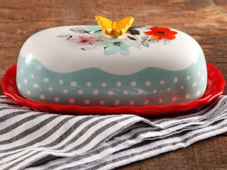 Pioneer Woman Flea Market Floral 6 4in Butter Dish