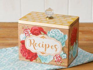 Pioneer Woman Blossom Jubilee 6 2in Wooden Recipe Box