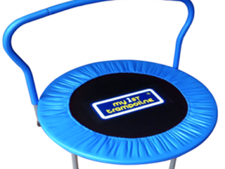 My 1st Trampoline with Blue Bar