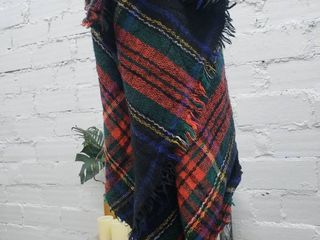 Multicolor Plaid Scarf with black