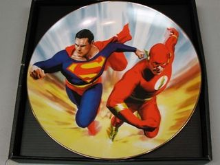 Superman Flash Collector Plate