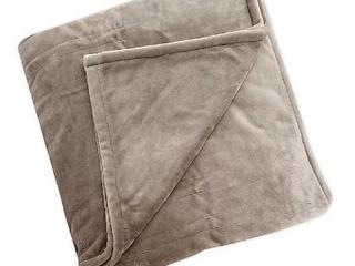 Brookstone Plush Heated Twin Blanket