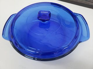 Anchor Hocking Cobalt Blue Ovenware Casserole Dish with lid