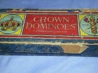 Vintage Crown Dominoes