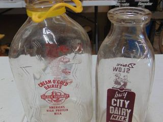 city dairy bottle and cream of gold