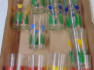 12 tulip juice glasses
