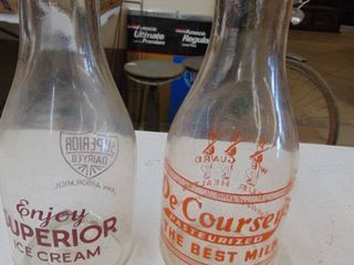 2 milk bottles