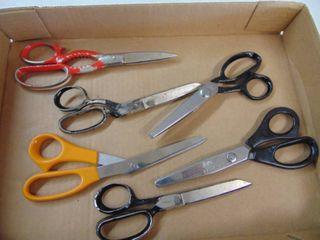 6 pair of scissors