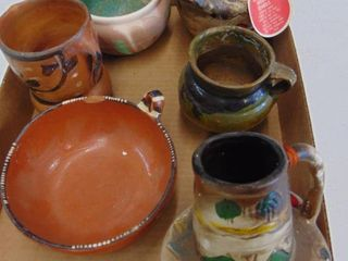 assorted indian pottery