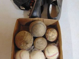 little leauge baseball cleats and ball gloves