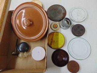 large Assortment of Misc  lids