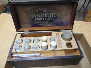 Synthetic porcelien dentistry set