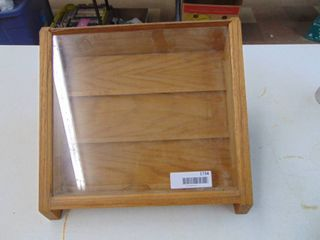 wooden and glass display case