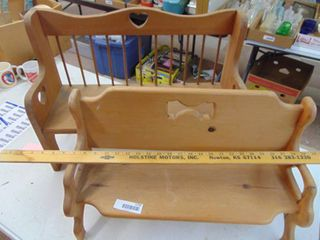 2 Wooden benches  doll sized
