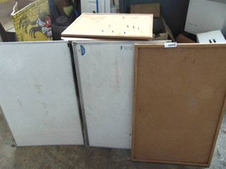 2 bulletin boards and 2 white boards