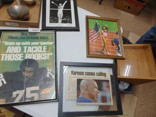 Assortment of athlete photos  some signed