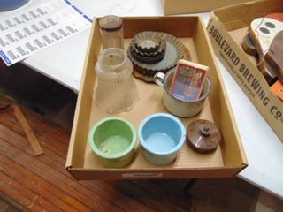 enamel ware and misc  items